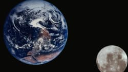 5백만km 거리서 지구와 달을 함께