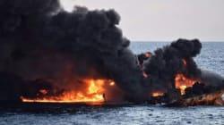 Le pétrolier iranien en flammes au large de la Chine a