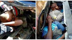 Un véhicule dissimulant 4 migrants force la frontière de