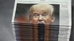 Cette pile de journaux avec Donald Trump en