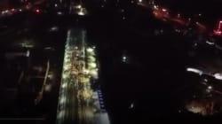 Une voie de chemin de fer chinoise construite en une