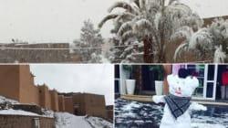 Les photos givrées de la neige tombée à Ouarzazate, la porte du