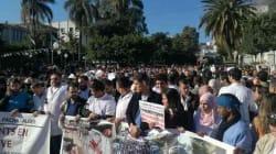 Sit-in national des médecins résidents au CHU Mustapha Pacha à Alger (VIDEOS,
