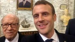 Emmanuel Macron et Béji Caid Essebsi immortalisent leur rencontre en selfies