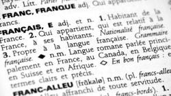 J'écris en français sans être