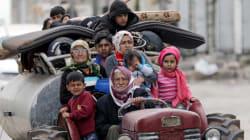 Afrine vidée de ses civils, fuyant par centaines face à l'approche de l'armée