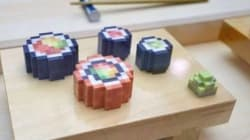 Ces sushis pixélisés et imprimés en 3D sont