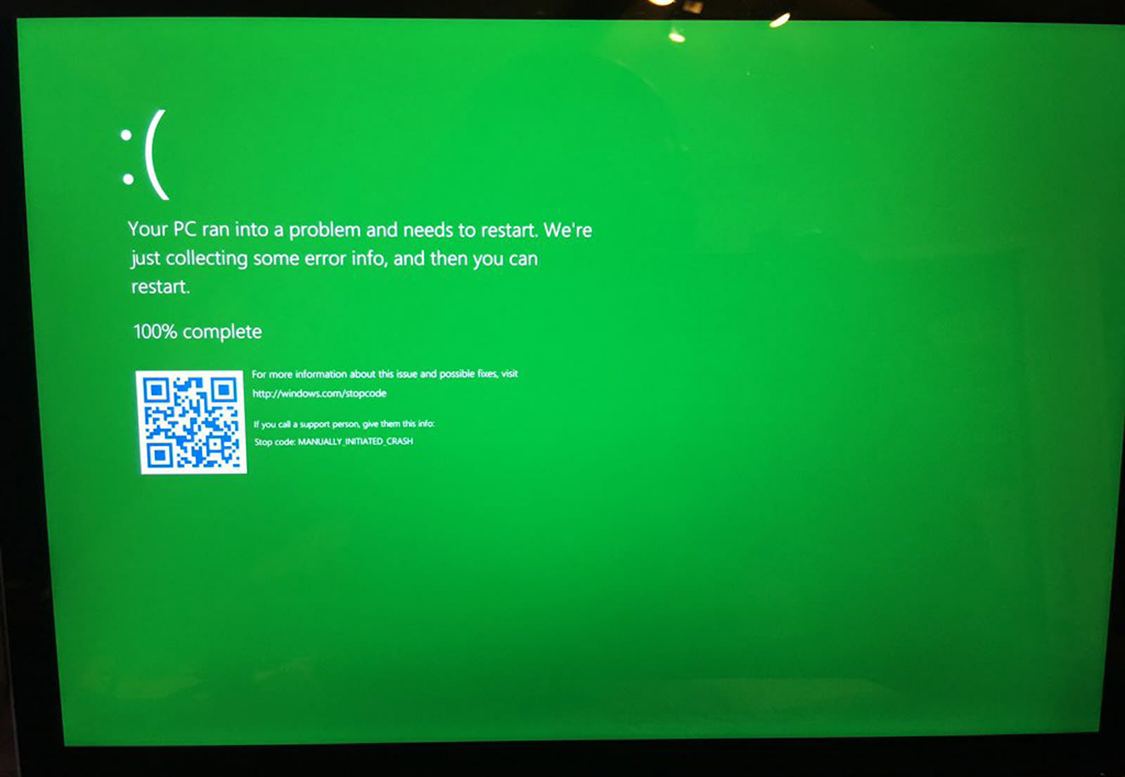 The blue screen of death is going green for Windows testers