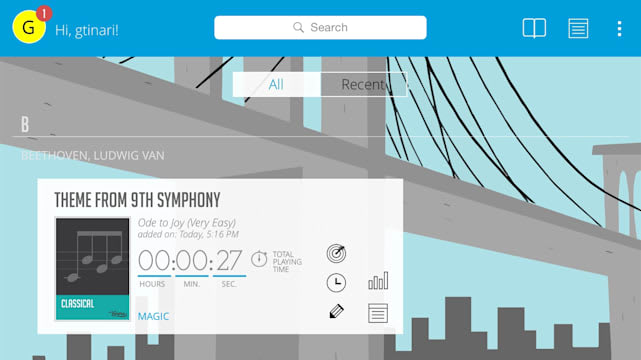 Wolfie allows beginners to learn piano with advanced tools