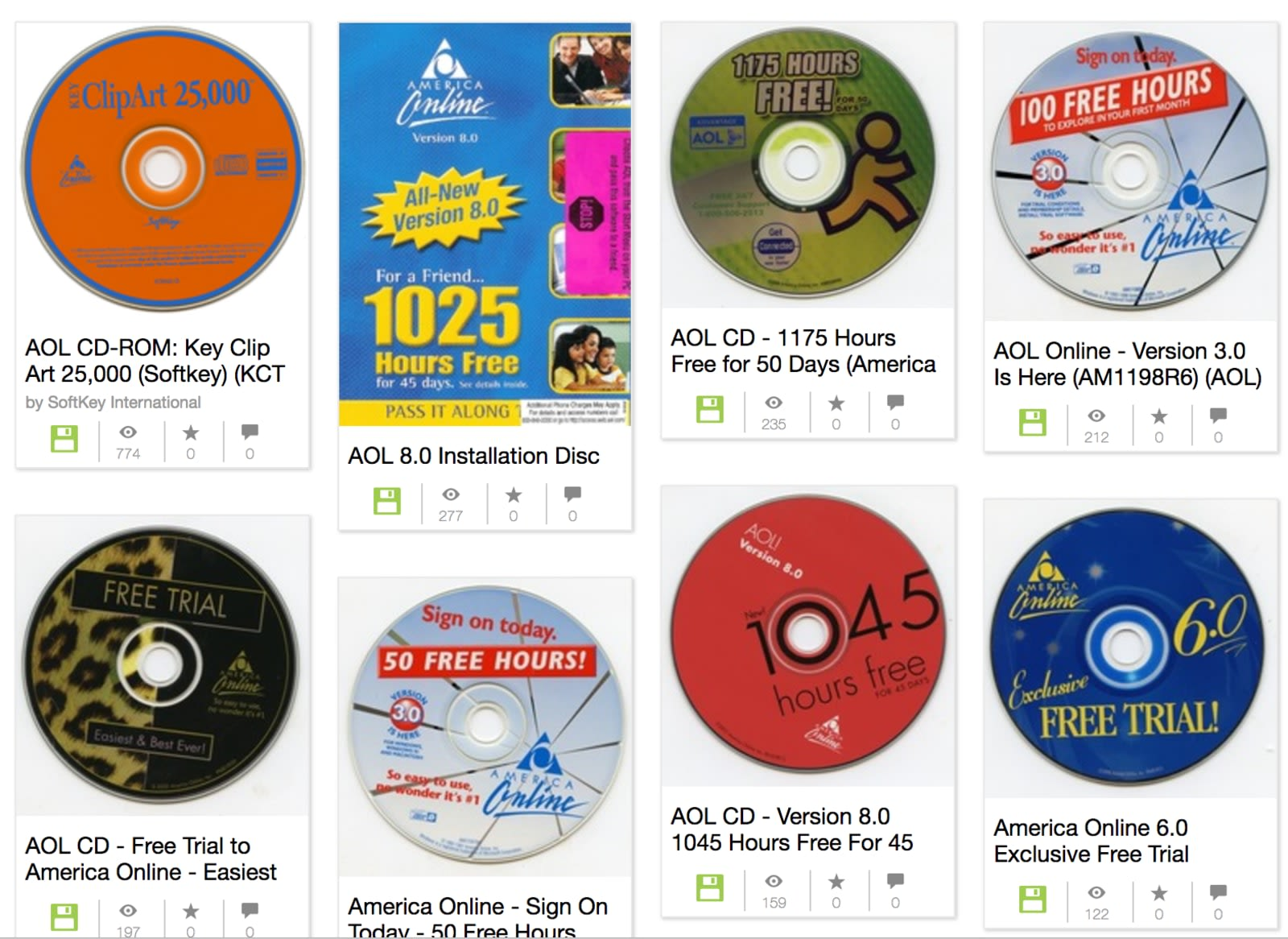 Revisit the '90s with a collection of AOL CDs