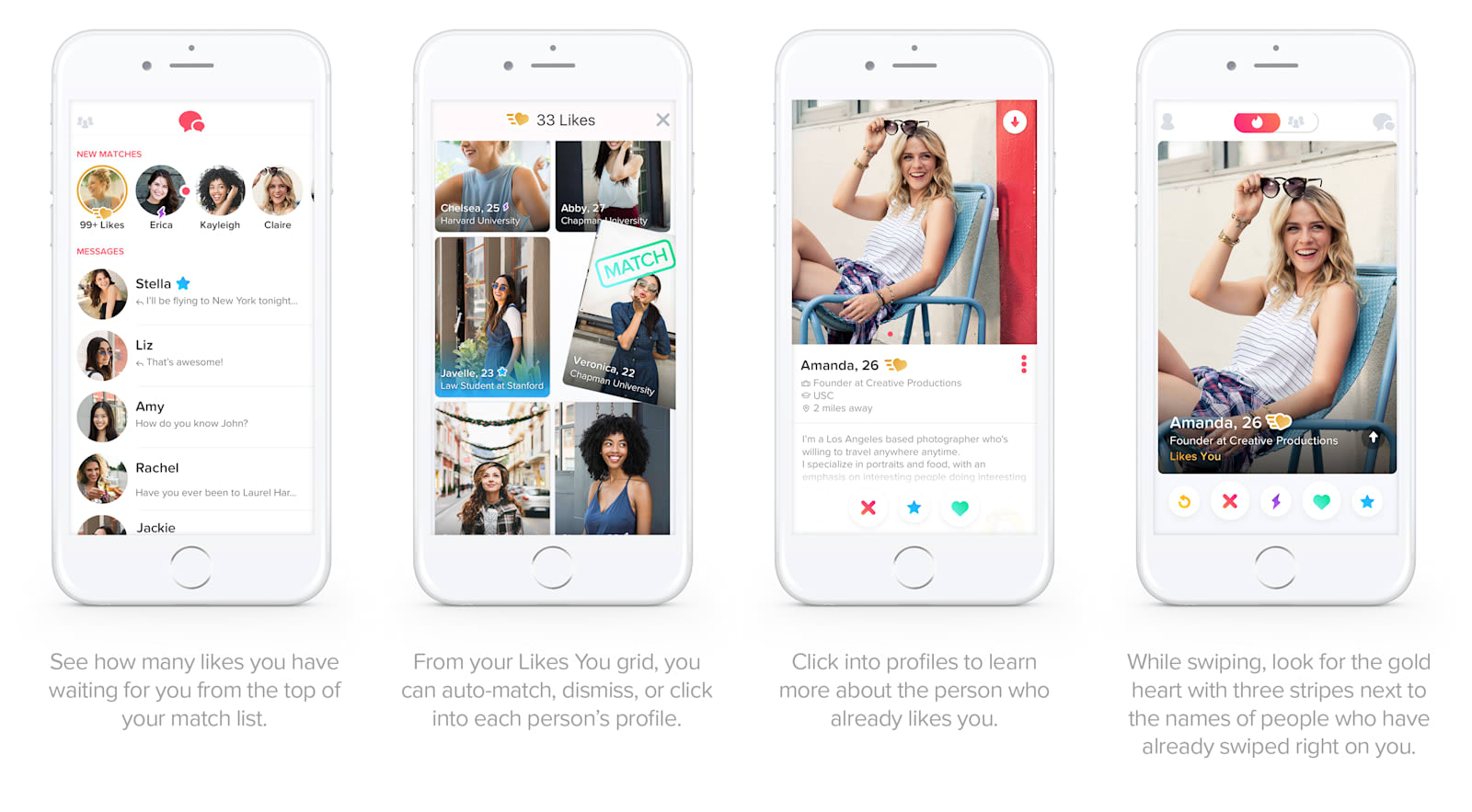 Tinder's new 'Gold' subscription shows your likes before you