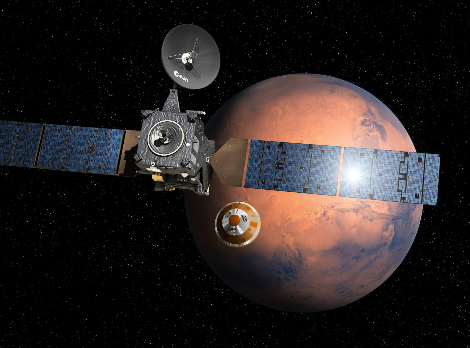 NASA finds likely crash site for ESA's ExoMars probe