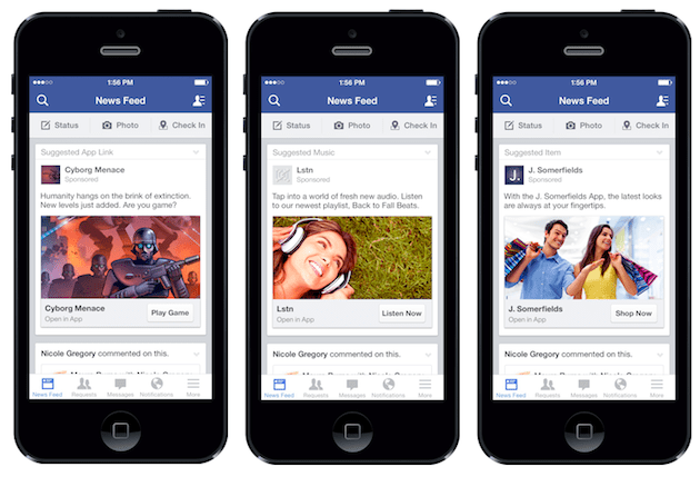Facebook's targeted ads set to appear in apps other than Facebook