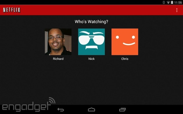 Netflix for Android update brings support for individual profiles