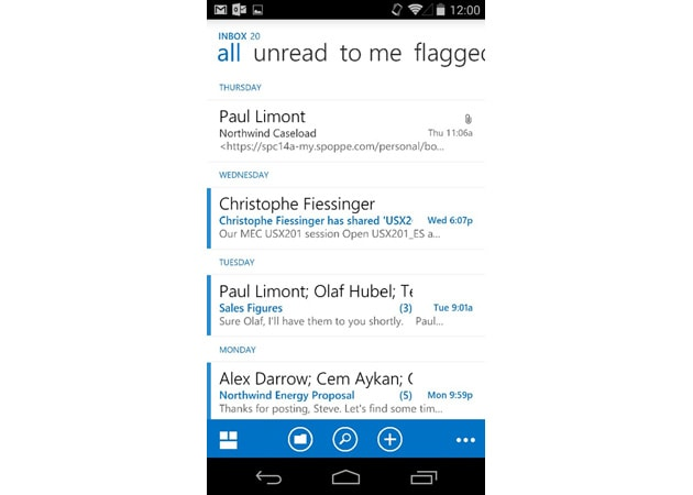 Outlook Web App for Android will help your smartphone fit in