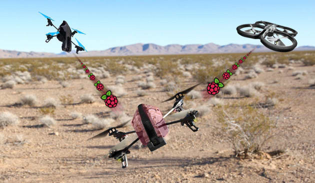 Raspberry Pi-equipped AR Drone can hijack other quadcopters' WiFi