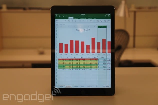 Office for iPad review: three beautiful apps, each with strong competition
