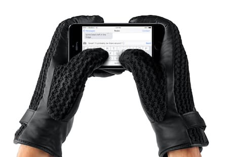 innovative design 08b45 9ee98 Mujjo leather crochet touchscreen gloves keeps you hands looking ...