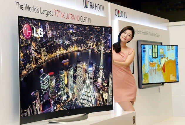 LG's bringing Ultra HD OLED TVs in more sizes to CES, ramping up production