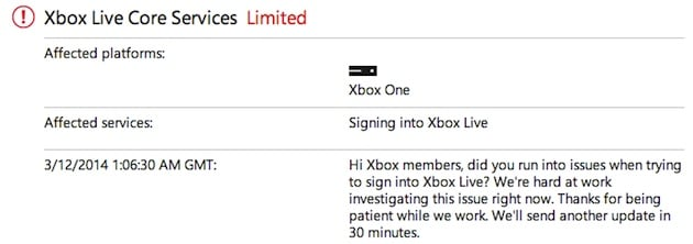 Xbox Live problems keep many Xbox One owners from calling in