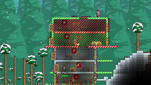 Terraria Christmas.Terraria Launches Christmas Update On Ios Android