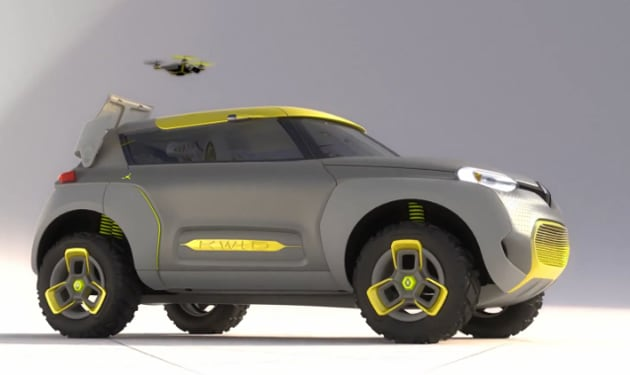 This concept car uses its own reconnaissance drone to spot traffic jams