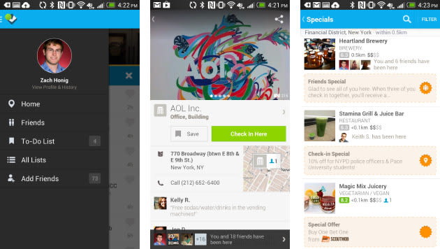 Foursquare updates Android app with Ken Burns effect, boosted
