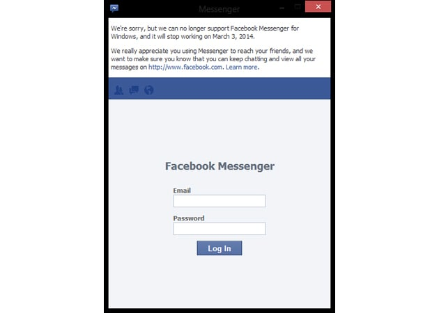 Facebook discontinuing its Messenger for Windows app on March 3rd
