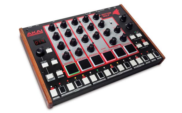Akai's Rhythm Wolf has analog drum machine and bass synth