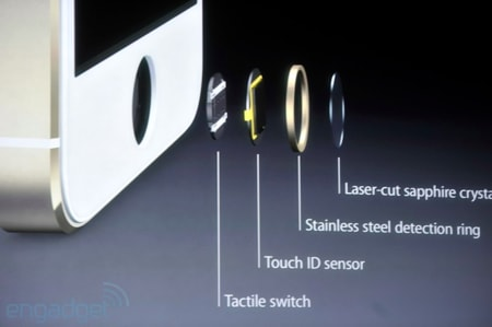 A look at the iPhone 5s Touch ID fingerprint sensor