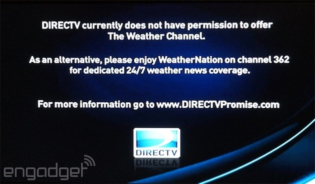 Directv Drops The Weather Channel Accuses It Of Loading