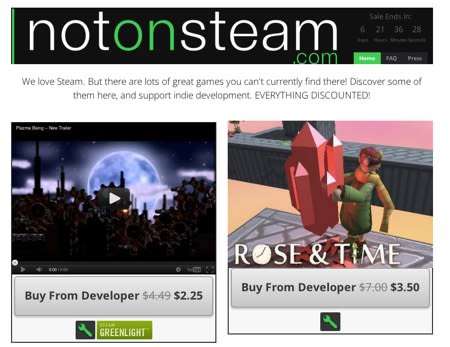 Not on Steam Sale offers a huge discount on a ton of indie