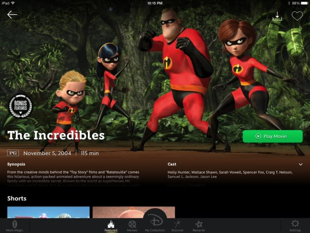 Disney Movies Anywhere service launches with an