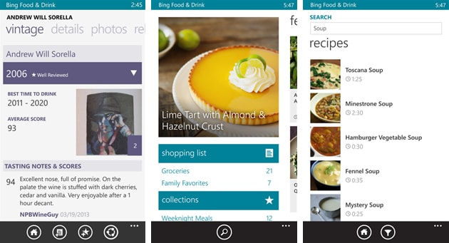 new microsoft app brings recipes and grocery lists to your windows phone