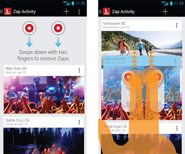 Motorola drops device exclusivity from Droid Zap photo sharing app