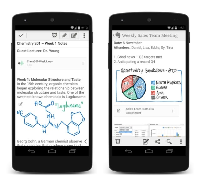 Evernote for Android now supports handwritten notes