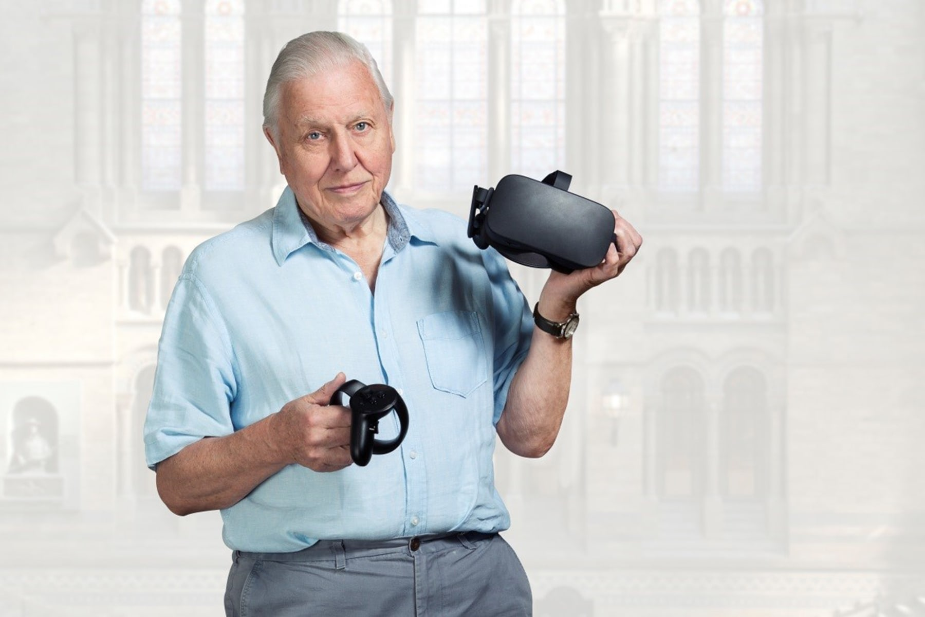 David Attenborough's hologram will help you study fossils in VR