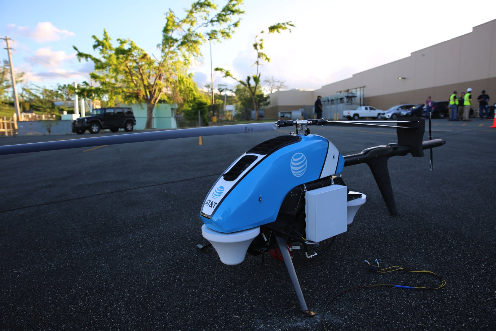 Atts Flying Cow Drone Provides Cell Service To Puerto Rico