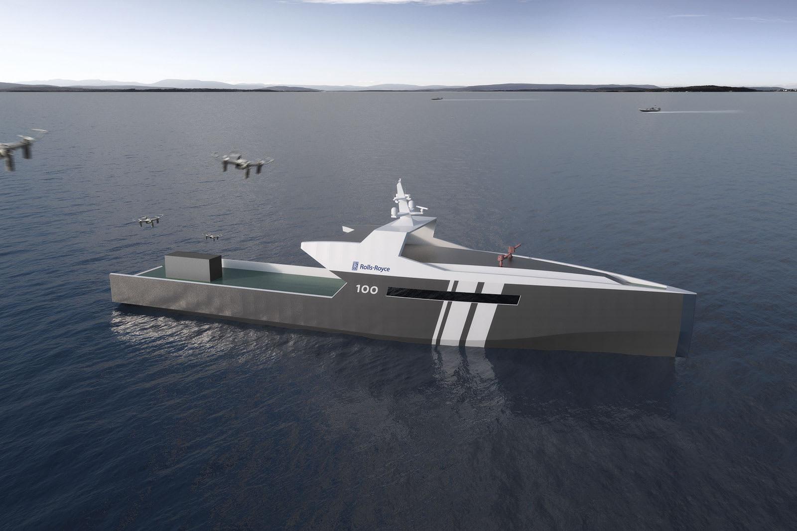 Rolls-Royce unveils plans for an autonomous patrol ship