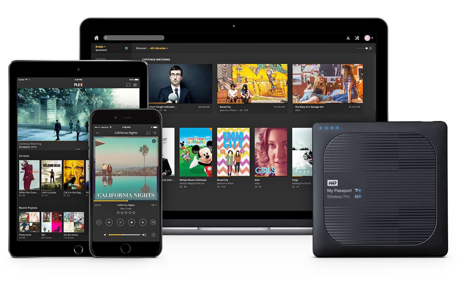 WiFi-connected hard drive fits a Plex server in your pocket