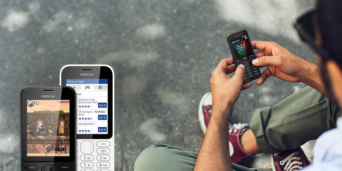 Microsoft keeps the candybar dream alive with the Nokia 222