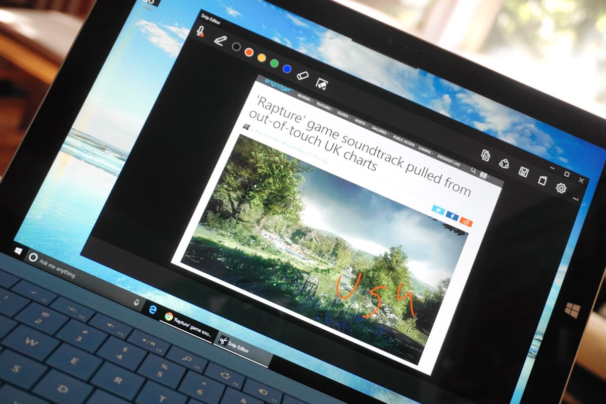 Microsoft Snip annotates screenshots with voice notes and