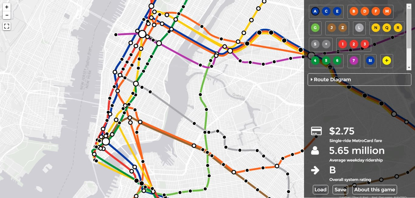 Subway Map From New Jersey To New York.Brand New Subway Game Lets You Redesign Nyc Transportation