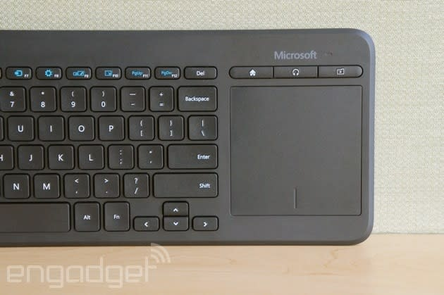 Microsoft's new keyboard is meant to be used with Smart TVs
