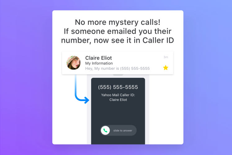 Yahoo can scan your emails to tell you who's calling