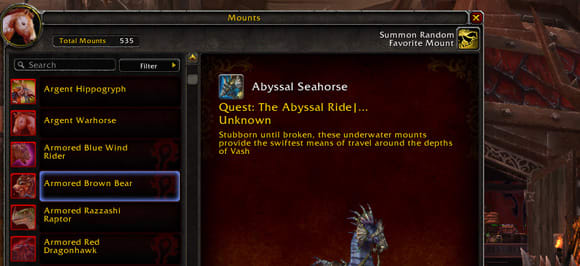 Warlords Of Draenor New Mount Tab And Favorites Function