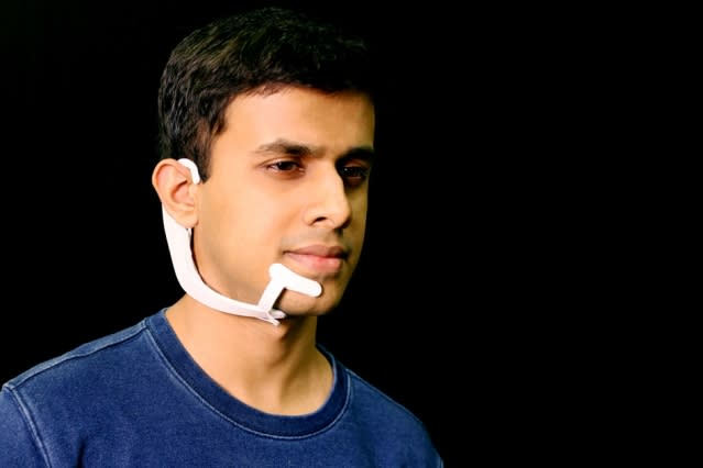 MIT's wearable device can 'hear' the words you say in your head