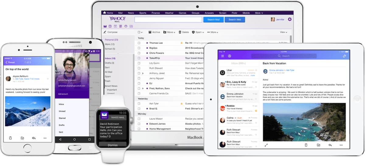 yahoo mail drops passwords and adds third party email support for
