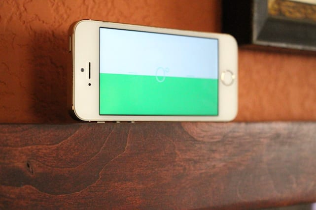 Using the iPhone Compass app to hang pictures straight