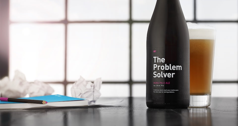 This beer tells you how much to drink to boost your creativity